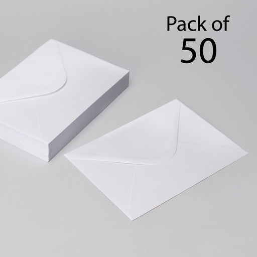 White Envelopes  162 x 229 mm Pack of 50