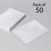 White Envelopes 133 x 184mm Fits 5 x 7 inch Pack of 50