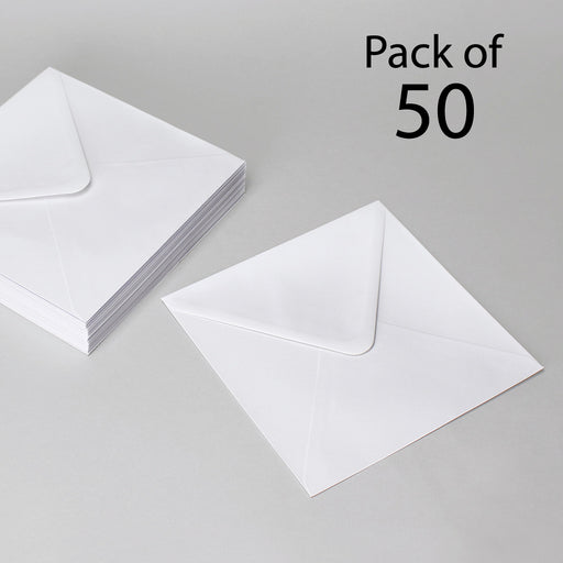 White Envelopes  105 x 105 mm Pack of 50