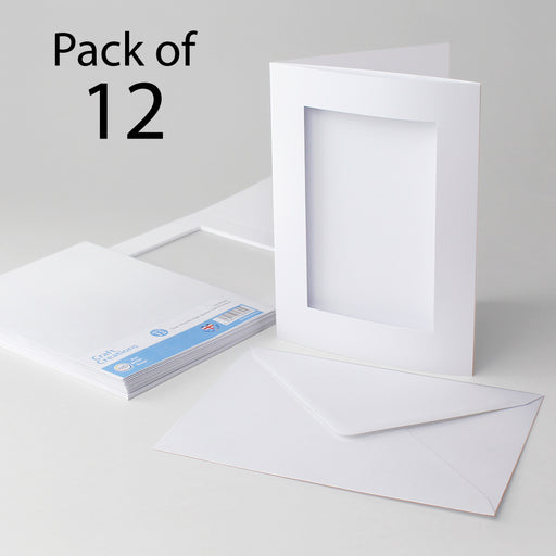 Classic White Rectangle Aperture Cards & Envelopes 150x203mm