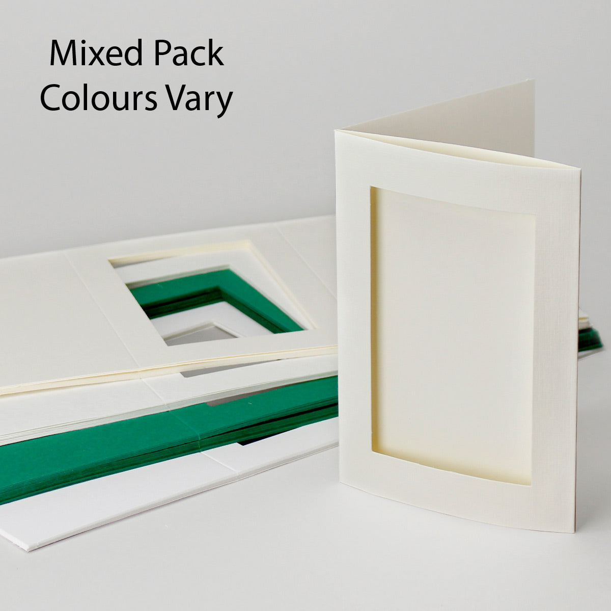 Rectangle Aperture Cards Mixed Colours  104x152mm Pack of 50