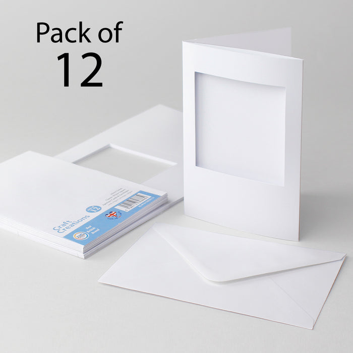 Classic White Square Aperture Cards & Envelopes 104x152mm