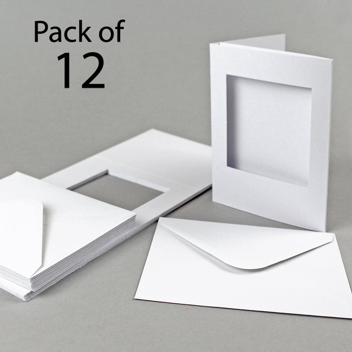 Classic White Square Aperture Cards 300 gsm 88x114mm
