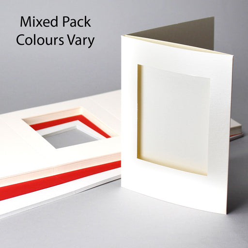 Rectangle Aperture Cards Mixed Colours 145x198mm (Pack of 50)