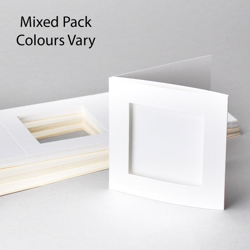 Square Aperture Cards Mixed Colours 100x100mm Pack of 50