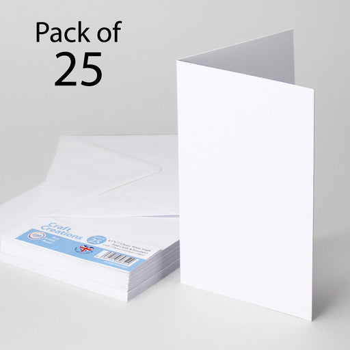 Classic White 114x178mm Single Fold Cards & Envelopes