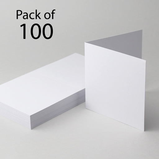 Classic White Single Fold Cards 144x144mm 6x6 (Pack of 100)