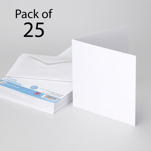 Classic White 144x144mm Single Fold Cards & Envelopes