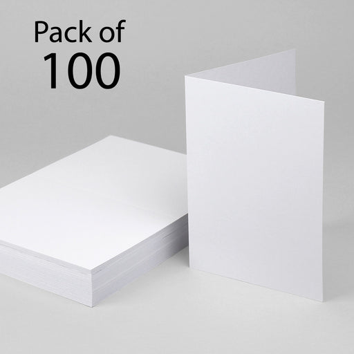 Classic White Single Fold Cards 127x178mm 5x7 (Pack of 100)