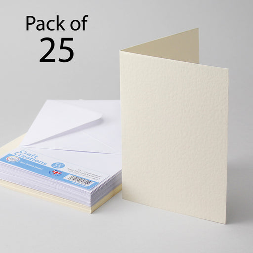 Cream Hammer 127x178mm 5x7 Single Fold Cards & Envelopes