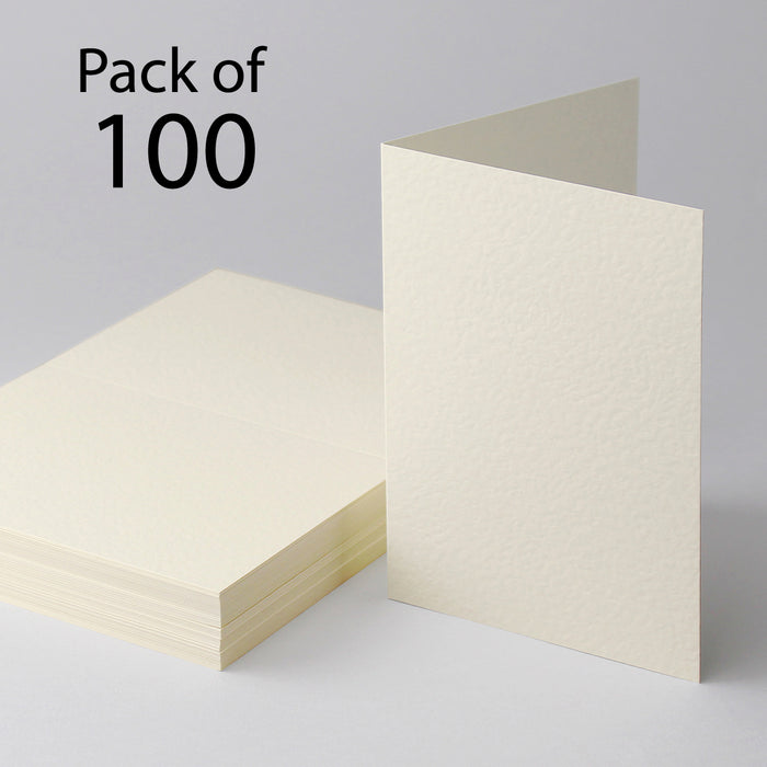 Cream Hammer Single Fold Cards  127x178mm 5X7  Pack of 100