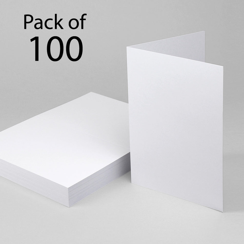 Classic White  Single Fold Cards  A5 148x210mm (Pack of 100)