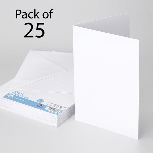 Classic White A5 210x148mmSingle Fold Cards & Envelopes