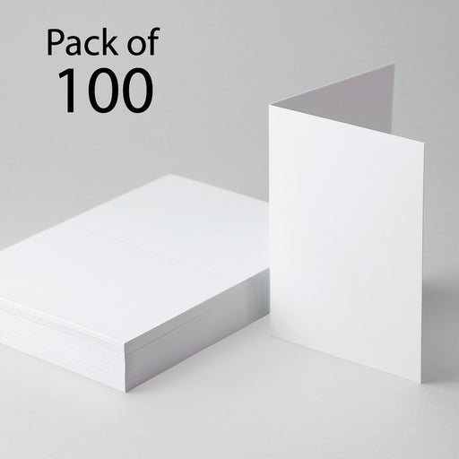 Classic White Single Fold Cards A6 105 x 148mm (Pack of 100)