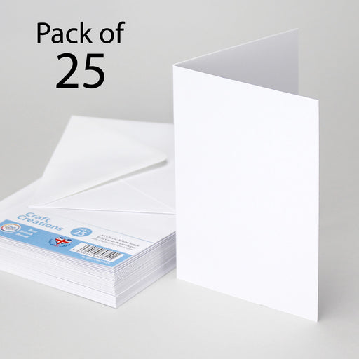 Classic White A6 105x148mm Single Fold Cards & Envelopes