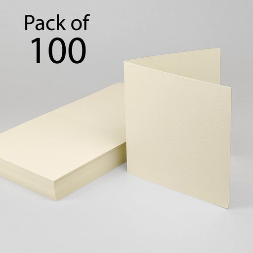 Cream Hammer Single Fold Cards  179x179mm 7x7 (Pack of 100)