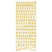 11mm Uppercase Alphabet Gold