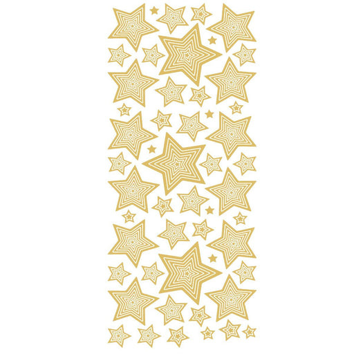 Multi Stars (M&S) Gold Self Adhesive Peel Off Stickers