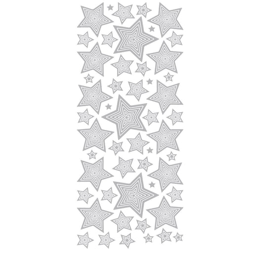 Multi Stars (M&S) Silver Self Adhesive Peel Off Stickers