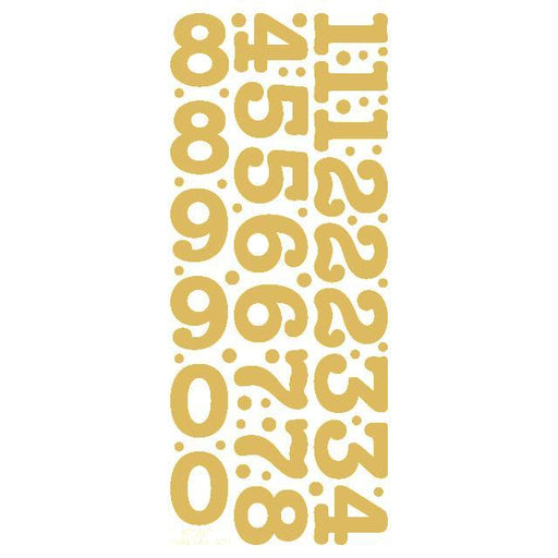 30mm Numbers Gold