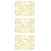 Daisies And Corners Gold Self Adhesive Stickers