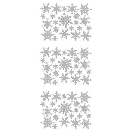 Filled Snowflakes  Silver