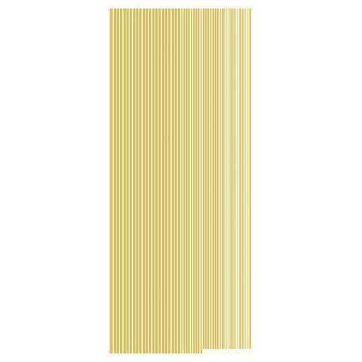 0.7mm 1mm 1.5mm Mixed Width Straight Lines  Gold