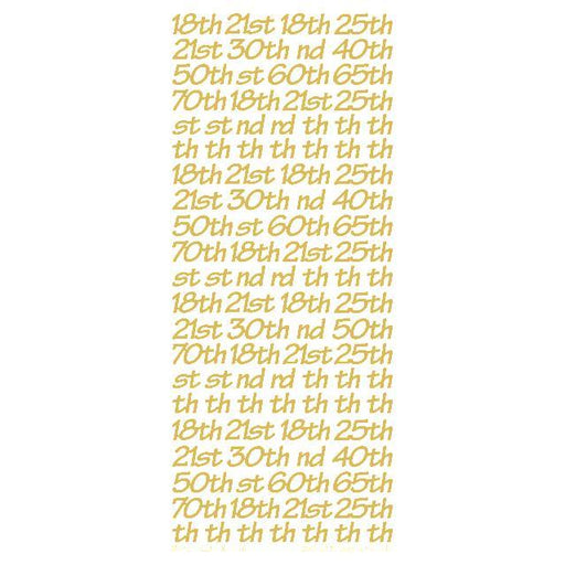 8.5mm Occasion Numbers  Gold