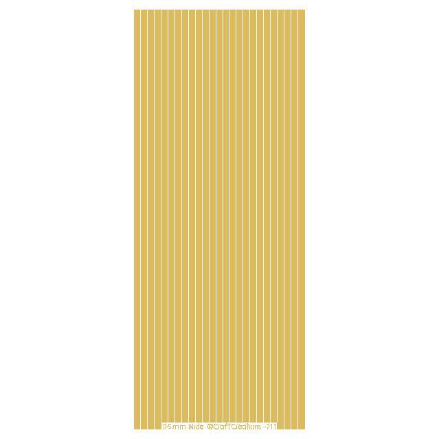 3.5mm Wide Straight Lines  Gold