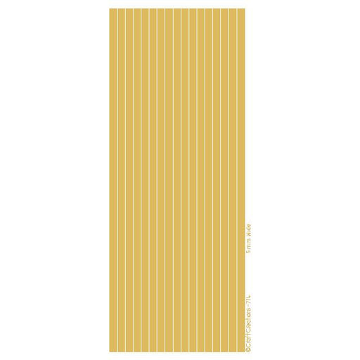5mm Wide Straight Lines  Gold