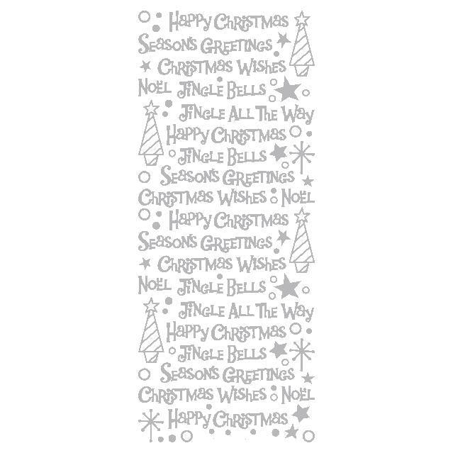 Christmas Mix Words  Silver