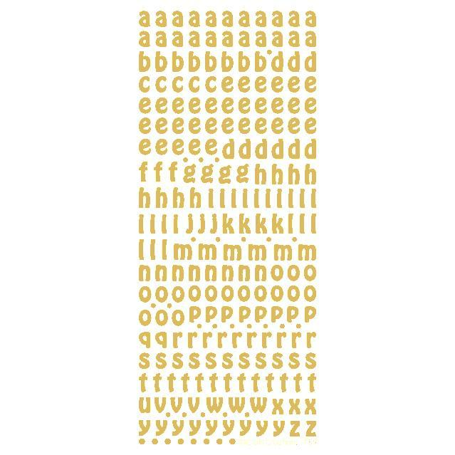 10mm Alphabet Lower  Gold