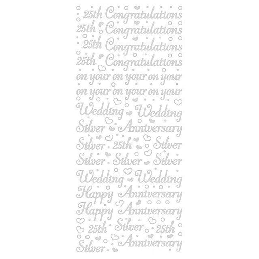 Silver Wedding Self Adhesive Stickers