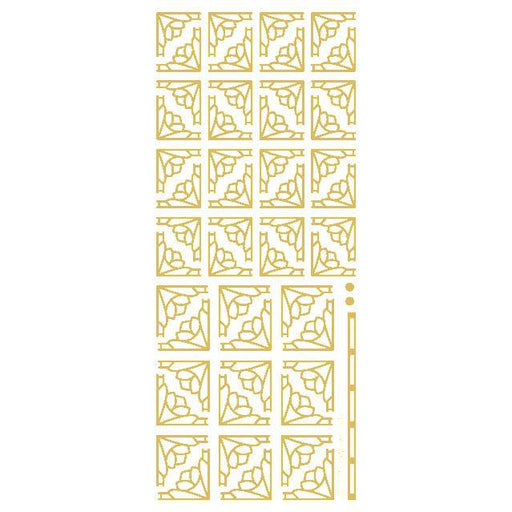 Deco Flower Corners  Gold