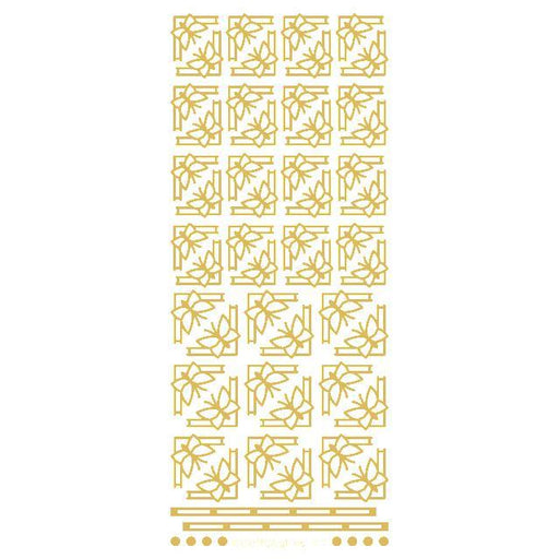Deco Butterfly Corners  Gold