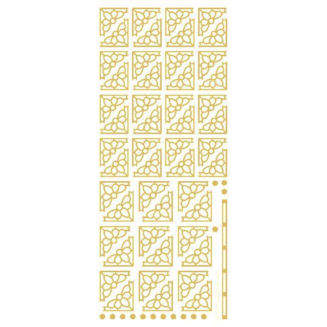 Deco Daisy Corners  Gold