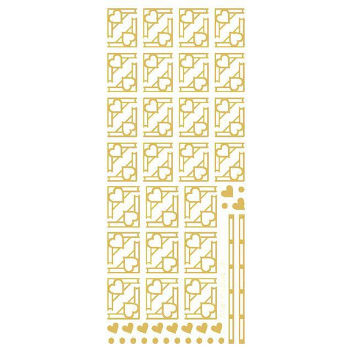 Deco Heart Corners  Gold