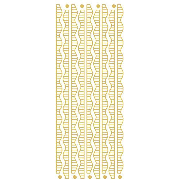 Satin Ribbon Borders  Gold