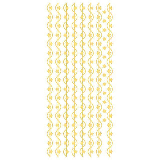 Star Borders Gold Self Adhesive Stickers