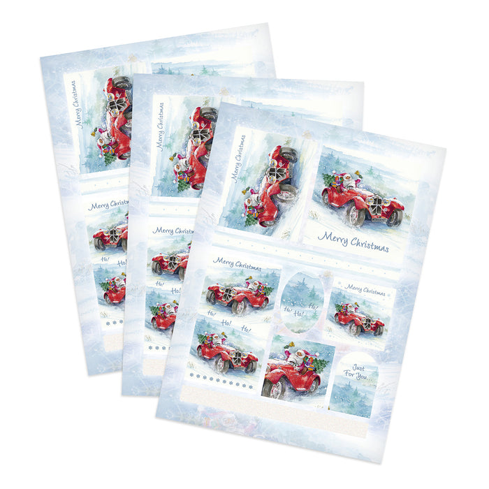 Die Cut Toppers - Santa (Pack of 3)
