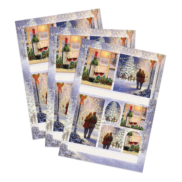 Die Cut Toppers - Together at Xmas (Pack of 3)