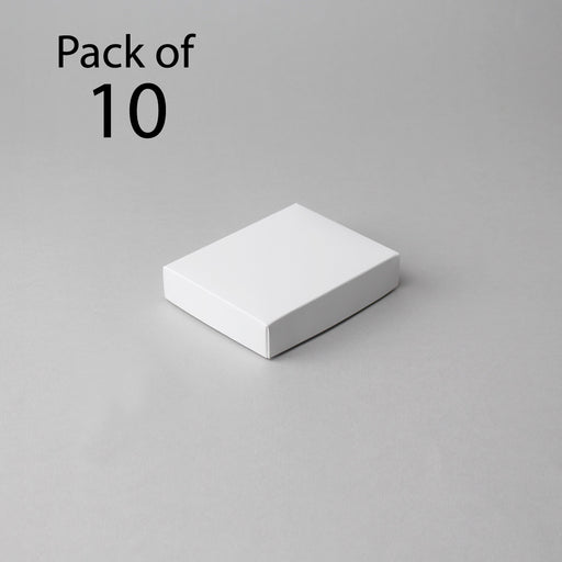 Card Boxes 96x121x25mm White Box (Pack of 10)