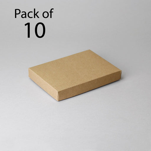 Card Boxes 108x15x22mm Kraft Card Box Pack of 10