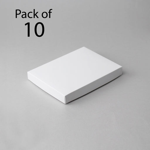 Card Boxes 139x190x22mm White Box (Pack of 10)