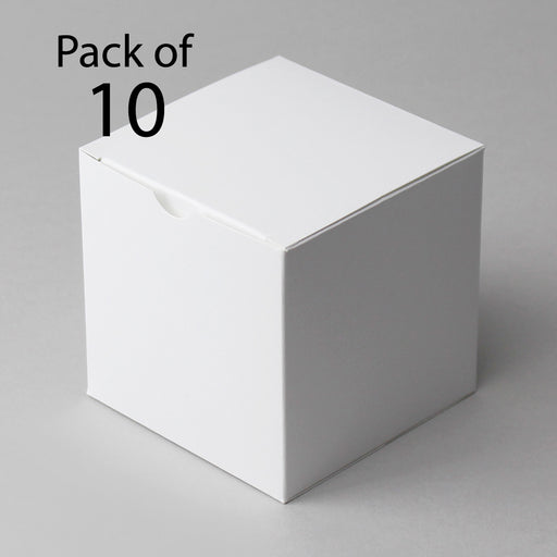 Gift Boxes 89x89x89mm White Box (Pack of 10)