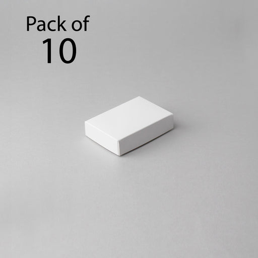 Card Boxes 70x105x25mm White Box (Pack of 10)