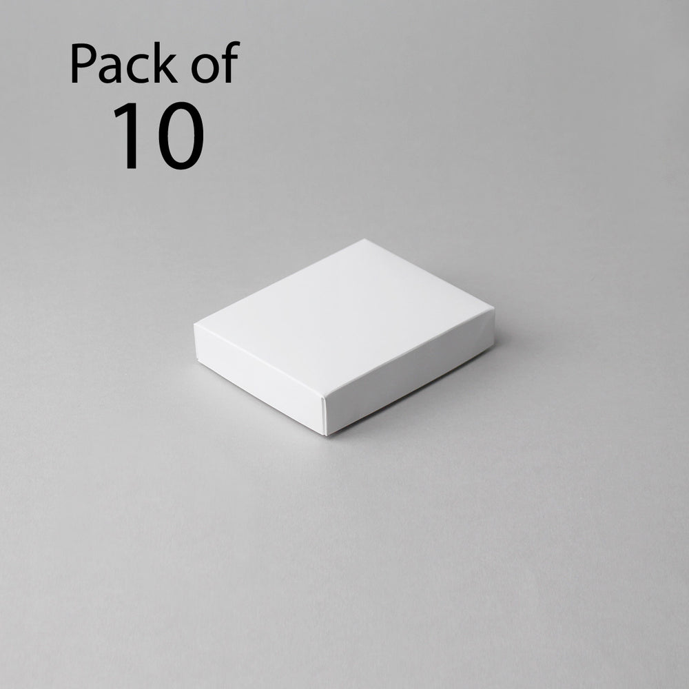 Card Boxes 101x127x25mm White Box (Pack of 10)