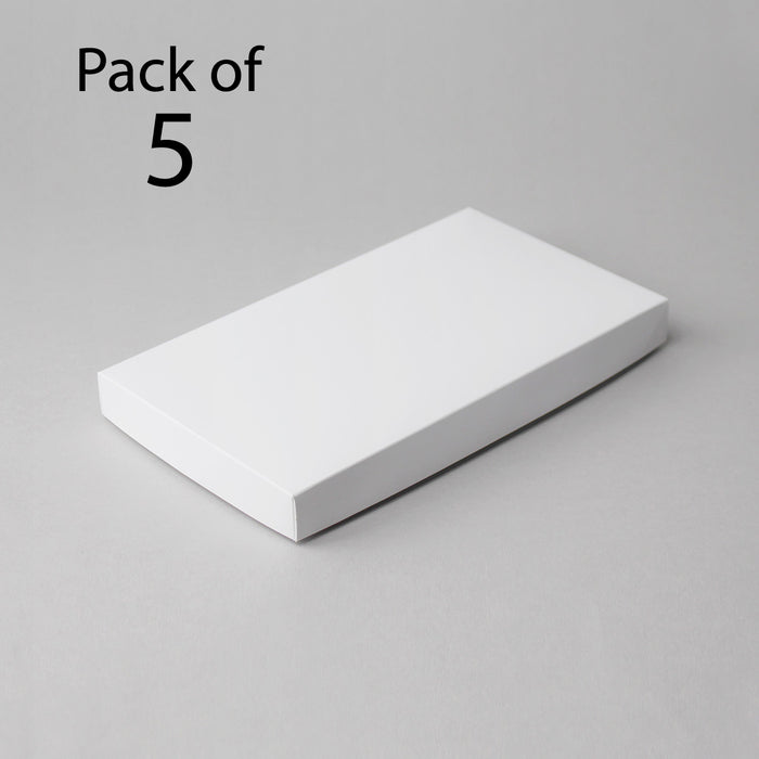 Card Boxes 143x256x25mm White Box (Pack of 5)