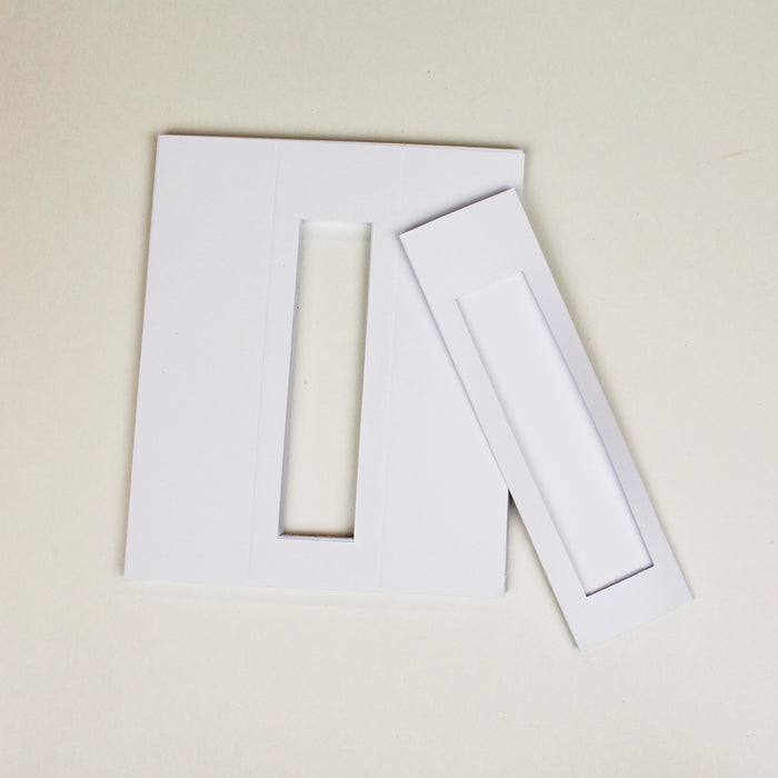 BK02 Bookmark Classic White 50x179 Pack of 25
