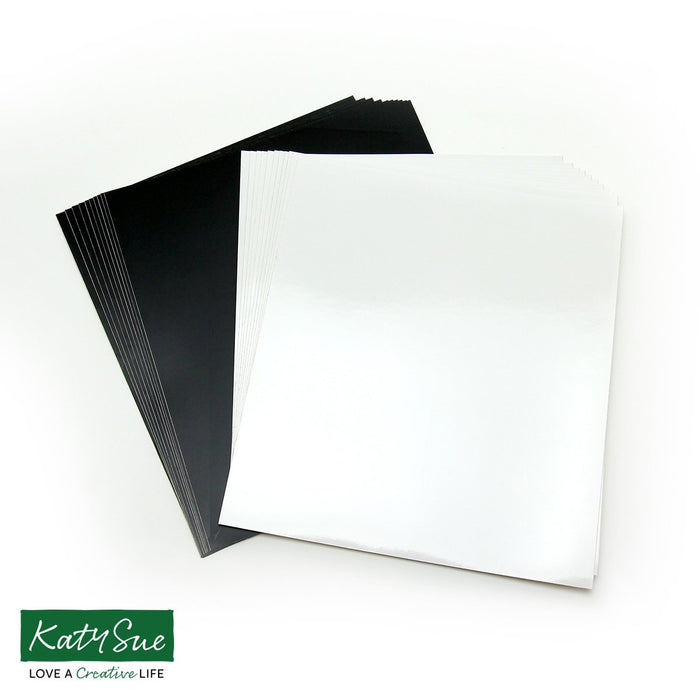 Pack of 20 Vinyl Squares - Black & White